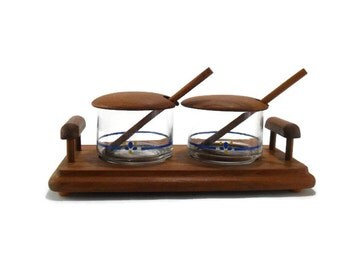 Danish Modern Condiment Set * Goodwood Teak * Made in Thailand