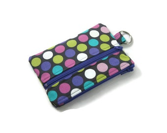 Keychain Wallet, Mini Wallet, Coin Purse With Zippered Pocket