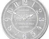 Vintage Parfum Gray Wall Clock
