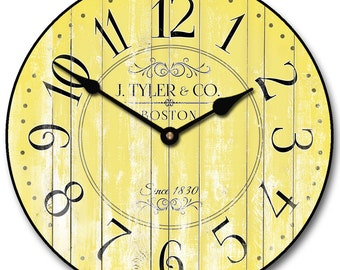 Harbor Yellow Wall Clock