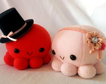 Wedding-theme, Bridal, Engagement, Octopus plushie pair