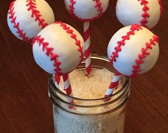 Baseball Cake Pops (Regular or Gluten Free*)