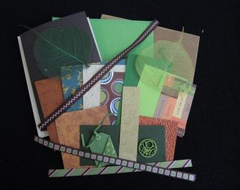 Retro Fall -luxury 3 blank cards kit -OOAK ready to ship