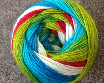 Self Striping Sock Yarn - Greenwing Galaxy