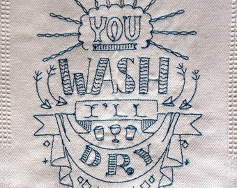 Wash dry Tea Towel