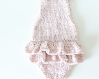 9-12 months - Sitter props - Sitter romper - Baby girl props - Photo props - Sitter girl - Baby photo prop - Sitter baby photo - Soft pink