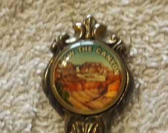 """Collector Souvenir Spoon Flew The Canyon Stuart Silver Plated 4 1/2"""" SP181"""