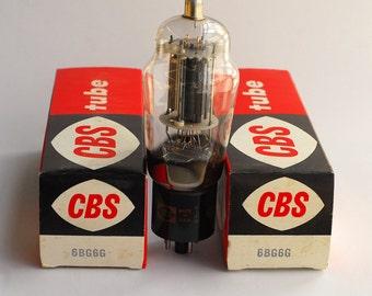 Pair CBS 6BG6G vacuum tubes - original boxes - excellent condition - black anodes