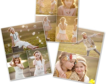 ON SALE Print Collage Blog Storyboard Photoshop Templates - 3 Pack Bundle - 1111