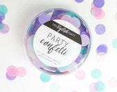 Confetti - barbe à papa - confettis Pastel de rose, Aqua et lilas - Pastel Party décorations de fête
