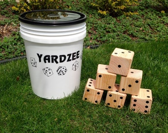 Yardzee & Farkle giant yard game handmade frim CEDAR wood by Tumbling Timbers