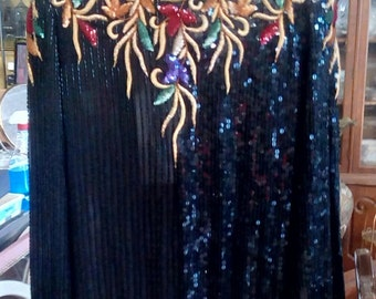 Women evening top embellished with sequins