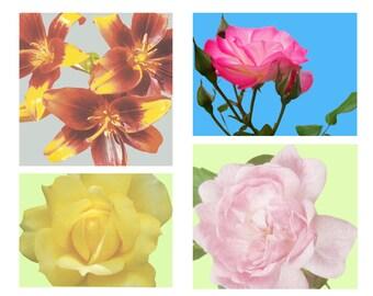 4 floral prints