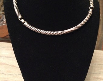 REDUCED Sterling Cable Link Choker