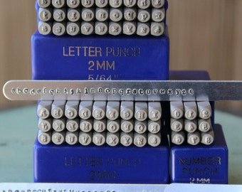 2MM Typewriter Font Alphabet Letter Combination Stamp Set - Metal Stamp Set - Metal And Jewelry Stamping Tool - SGE-7UL4N