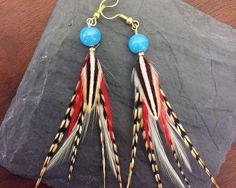 Handmade Feather Earring