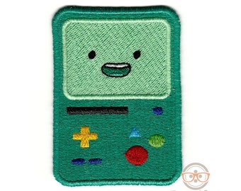 """Adventure Time """"BMO"""" Inspired - Embroidered Iron-on Patch"""
