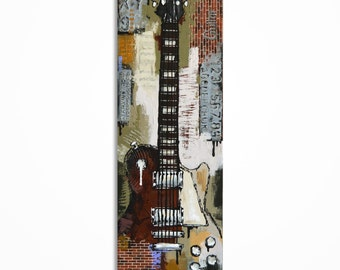 Guitar painting Gift for musician Music Art Guitar Art Original electric Les Paul guitar painting on canvas by Magda Magier - MADE TO ORDER