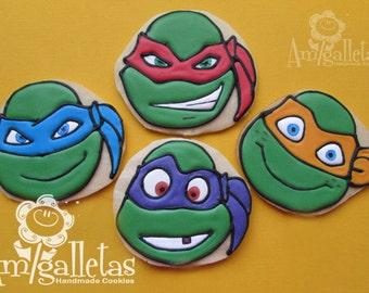 Ninja Turtles Cookies - 1 dozen