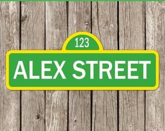 Sesame Street Party Sign | Editable Sesame Street Sign | Sesame Street Birthday Party | Instant Download