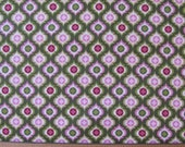 Cotton Fabric, Green and Rose Geometric, Quilting Treasures, Rosa, Quilting Fabric, Craft Fabric