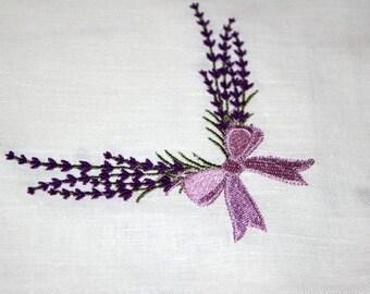 "Tablecloth ""Lavender"",linen tablecloth."