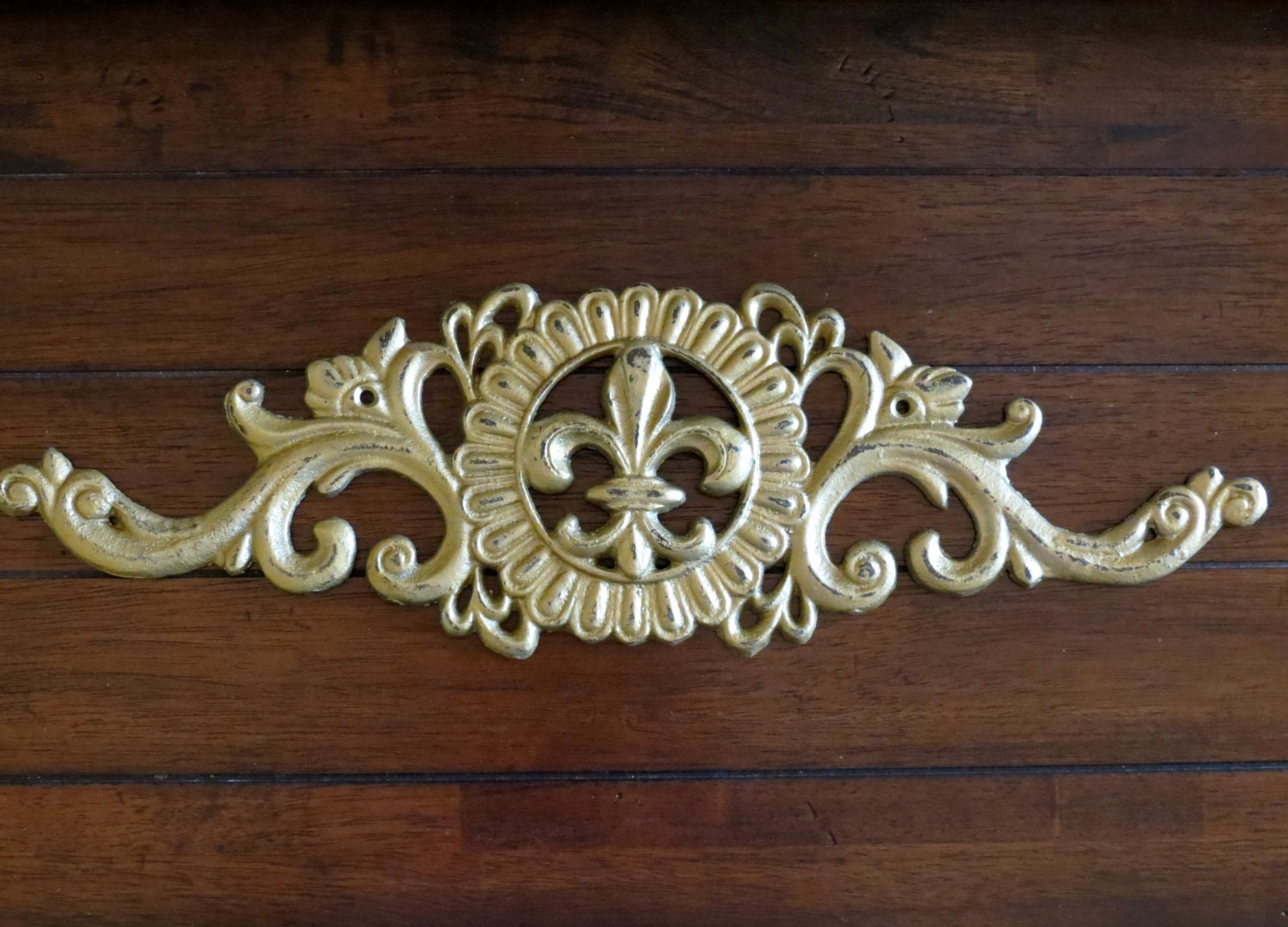 Fleur De Lis Wall Hanging Cast Iron Wall By Veritasinspired