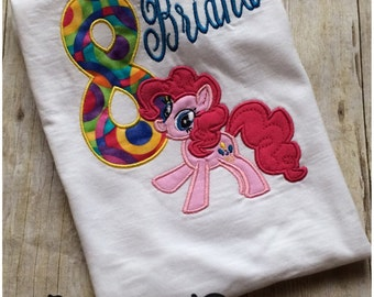 My Little Pony Pinkie Pie Inspired Birthday Tshirt