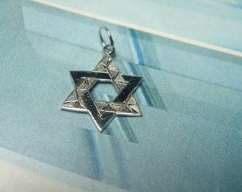 14kt white gold Jewish star/ Star of David