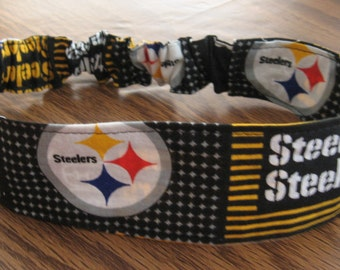 NFL- Pittsburgh Steelers Adult Headband-Fabric/Lined  Shipping Included
