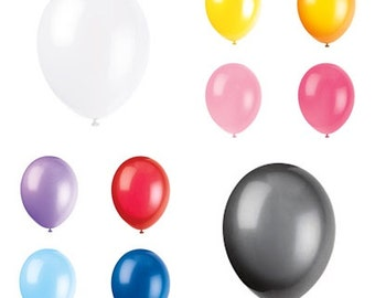 "12"" Latex Balloons (choose your color); White Balloons; Yellow Balloons; Pink Balloons; Purple Balloons, Blue Balloons; Black Balloons"