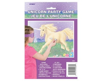 Unicorn Party Game - Pin the horn on the unicorn
