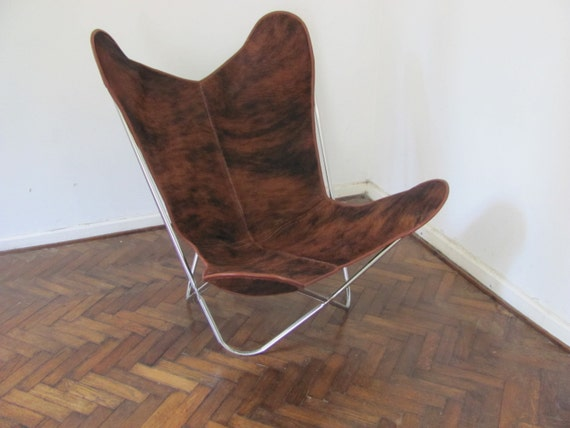Butterfly Chair BKF Brindle Canvas Stainless Steel Frame 6428