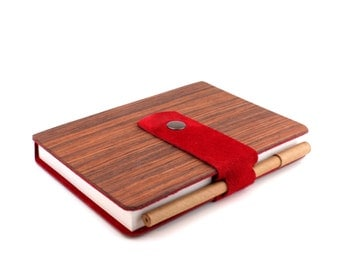 WOL Scarlet Notebook with Pen Holder