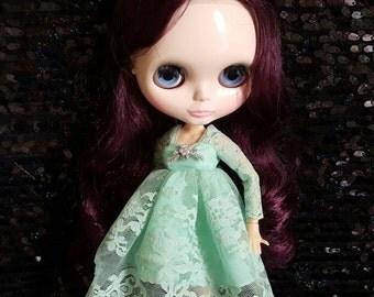 Desyshop Blythe Soft green skirt cute style