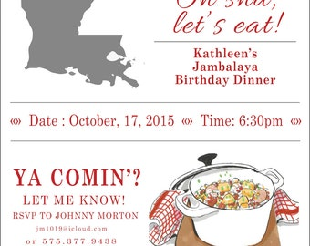 Birthday Dinner Invitation