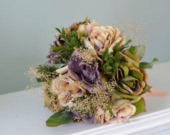 Wedding Bridal Bouquet Silk Flowers Wedding Accessory Artificial Flowers Wedding Bouquet Bridal Bouquet
