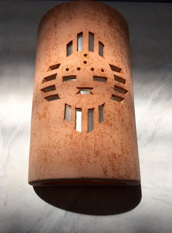 Wall Sconce Zia Sunface Southwestern Outdoor By