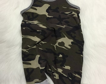 Camo Baby Romper - Baby Romper - Army Baby Romper - Camo Romper - Camo Harem - Toddler Romper - Boy Romper - Camo Shorts - Camouflage Romper