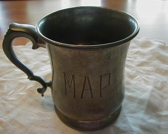 Very heavy Pewter Stein Kraftsman Sheffield made in England with initials MAP engraved on front.