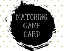 Game Cards/printable game cards/baby shower games/diaper raffle/bridal shower games/game card