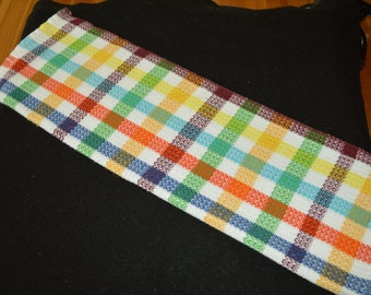 Handwoven Rainbow Twill Towel   tt129