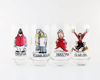 Popeye Collector Glasses - set of 4