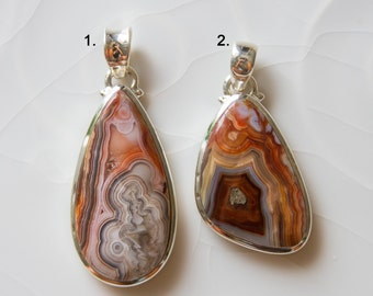 Laguna Lace Agate with Sterling Silver