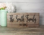 Family EST Wood Sign Made From Reclaimed Wood- Bride And Groom- Country Wedding- Rustic Wedding- Farmhouse Decor- Personalized