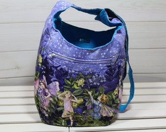 Hobo Bag, Cross Body Hobo Bag, Boho Hobo Bag, Butterflies and Fairies India Boho Hobo Bag