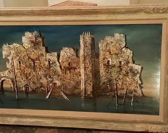 Collectible 1950's Original Oil Painting by Abruzzi (Harold Stephenson)