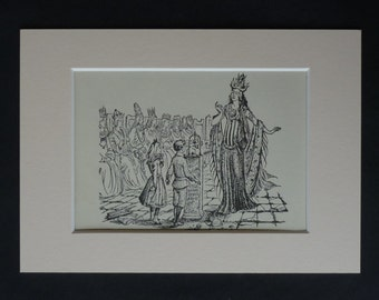 1950s Vintage Narnia Print of Jadis the White Witch, Magician's Nephew Decor, Available Framed, Book Art, CS Lewis Gift for Bookworm Nursery