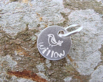 Personalised Sterling Silver Small Round Charm