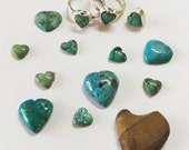 Best friends turquoise heart love friendship ring